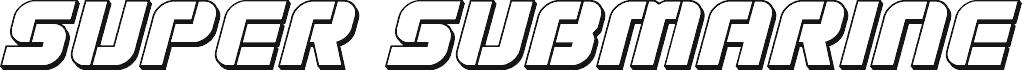 Super Submarine 3D Italic шрифт