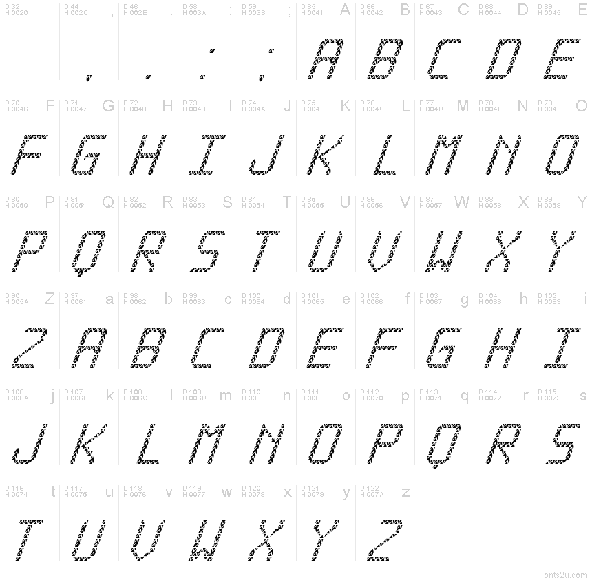 Triangled tfb cursive font