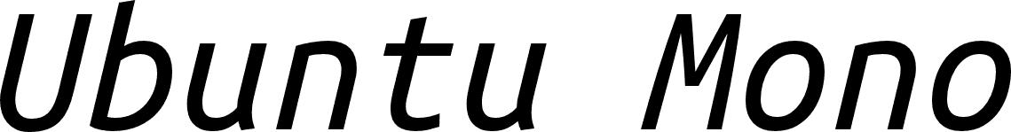Ubuntu mono italic font