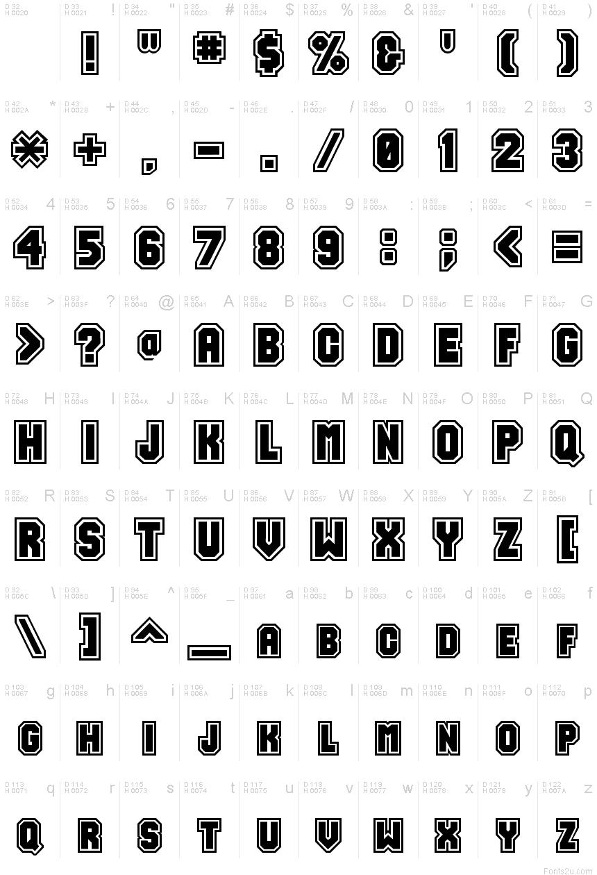 17 Free Varsity Fonts · 1001 Fonts
